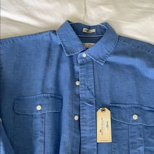 Peter Millar sport shirt size large new with tags